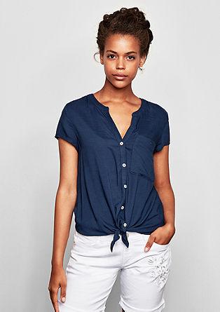 Blusenshirt mit Bindedetail