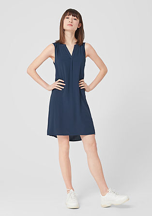 Delicate tunic dress in a plain colour from s.Oliver