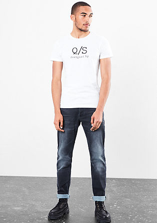 T-shirt en jersey animé d'un imprimé à l'effigie de la marque de s.Oliver