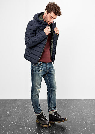 Padded quilted jacket with contrast details from s.Oliver