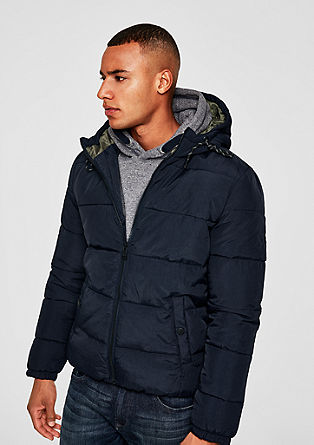 Puffer jacket with contrasting lining from s.Oliver