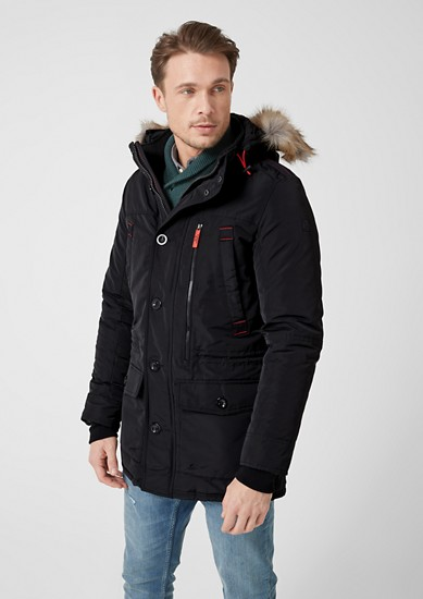 Outdoor parka with faux fur from s.Oliver
