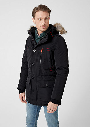 Outdoor-Parka mit Fake Fur