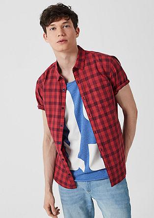 Extra slim: geruit overhemd van katoen