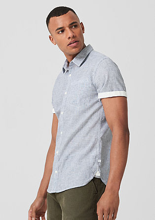 Extra Slim: shirt with linen from s.Oliver