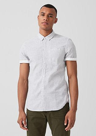 Extra Slim: Hemd mit Leinen