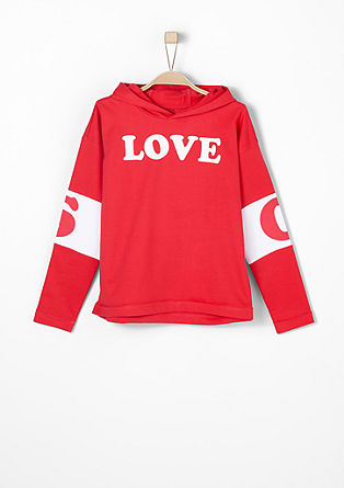 Sporty statement hoodie from s.Oliver