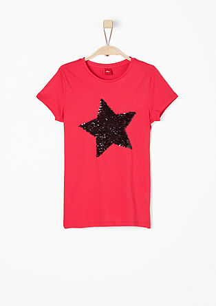 T-shirt with reversible sequin star from s.Oliver