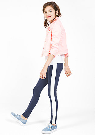 Leggings mit Kontrast-Streifen