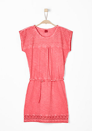 Jersey dress with lace from s.Oliver