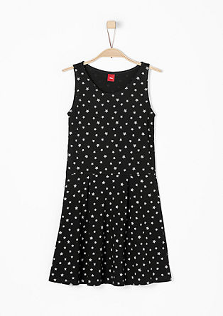 Jersey dress with a star pattern from s.Oliver