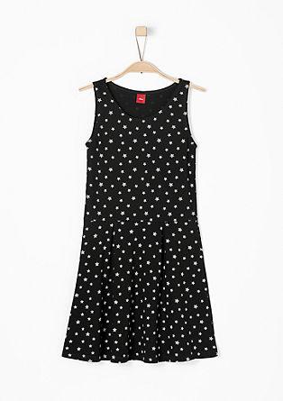 Jersey jurk met sterrenmotief