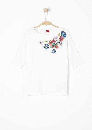 3/4-Arm-Shirt mit Flower-Print