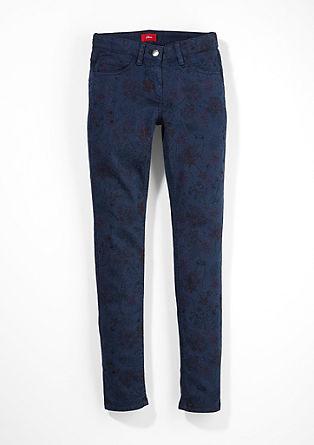 Skinny Suri: kalhoty s květinovým vzorem