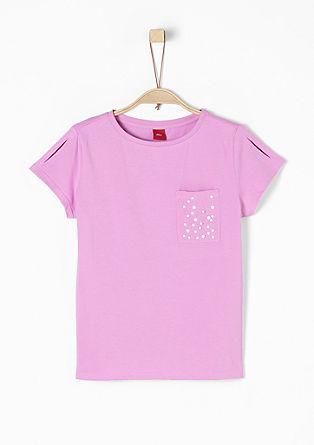 Boxy-Shirt mit Schmucksteinen