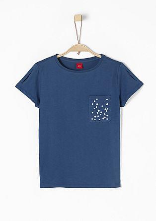Škatlasta majica s kamenčki