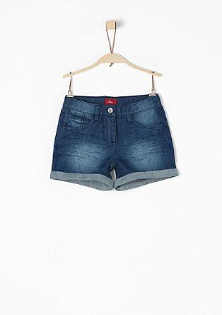 Shorts aus Stretchdenim