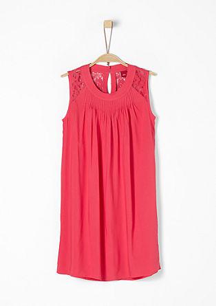 Losjes vallende jurk met kanten pas