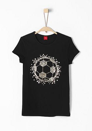 Majica iz džersija z nogometnim potiskom