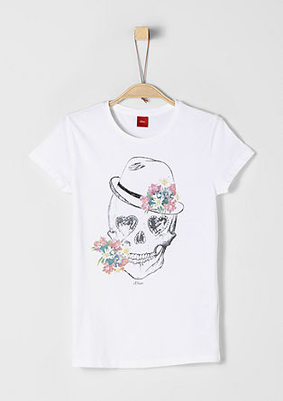 T-shirt with a scull and glittery stones from s.Oliver