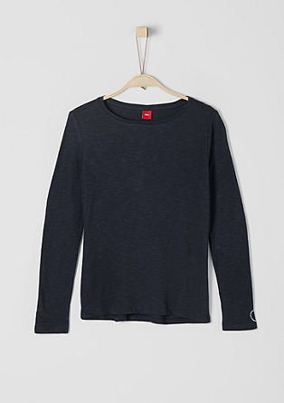 Schlichtes Slub Yarn-Shirt