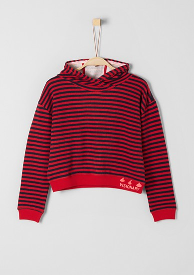 Striped boxy hoodie from s.Oliver