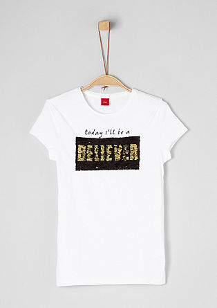 Kratka majica z obojestranskimi bleščicami