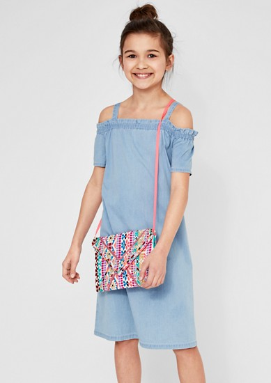 Luchtige off-shoulder denim jurk