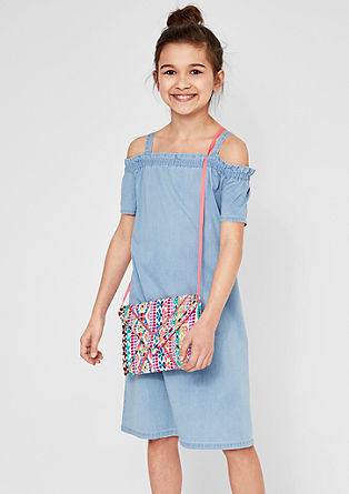 Leichtes Off Shoulder-Denimkleid