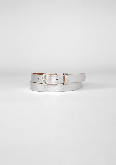 Metallic leather belt from s.Oliver