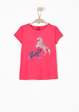 T-shirt with sequin horses from s.Oliver
