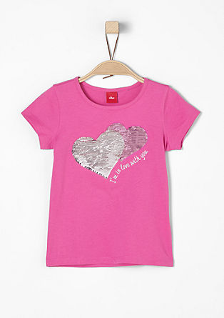 T-shirt with reversible sequins from s.Oliver