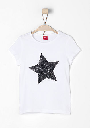 Jersey T-shirt with reversible sequins from s.Oliver