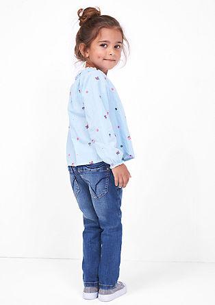 Uvezena črtasta bluza