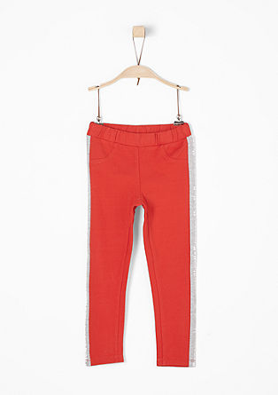 Tracksuit bottoms with contrast stripes from s.Oliver