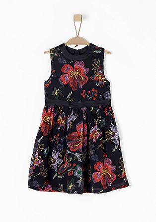 Jemné šifonové šaty skvětinami