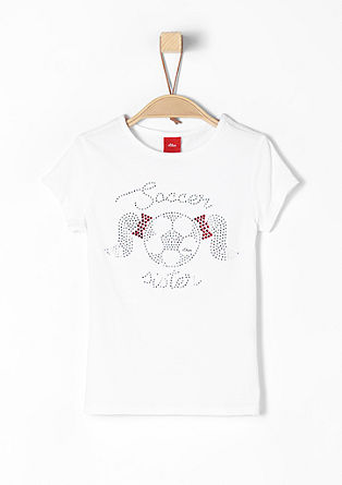 Jersey top for girls who love football from s.Oliver