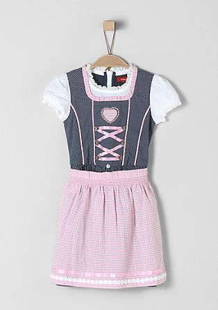 Dirndl with a checked apron from s.Oliver