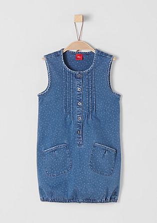 Jeans obleka s pikicami