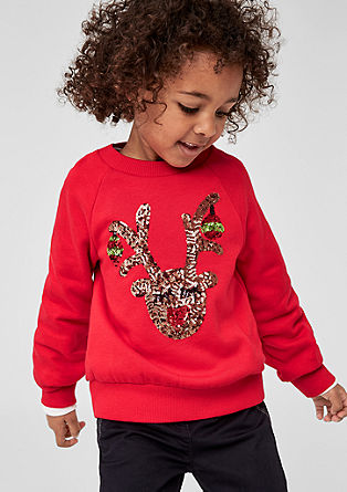 Christmas sweatshirt with sequins from s.Oliver