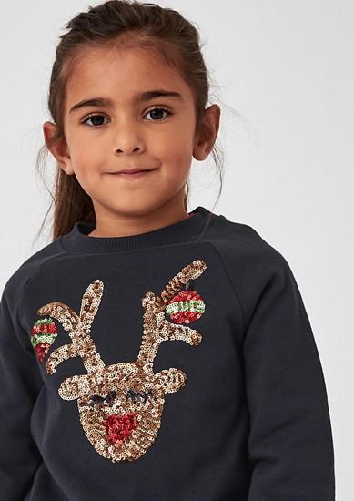 Weihnachts-Sweatshirt mit Pailletten
