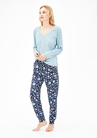 Eleganter Baumwoll-Pyjama
