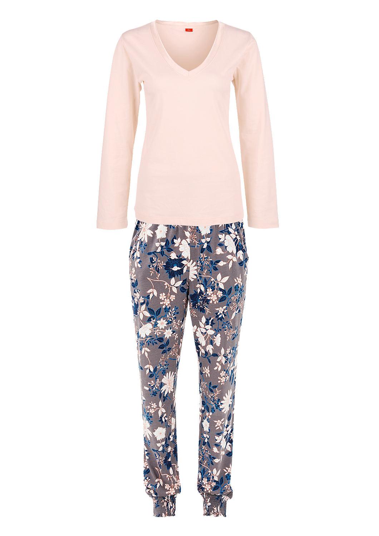 elegante katoenen pyjama bestellen s oliver online shop. Black Bedroom Furniture Sets. Home Design Ideas
