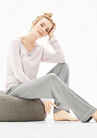 Wohlfühl-Pyjama in Bicolor