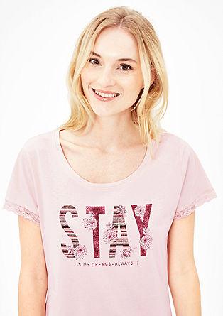 Kort nachthemd met romantische print