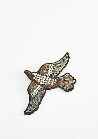 Embroidery-Pin mit Strasssteinen