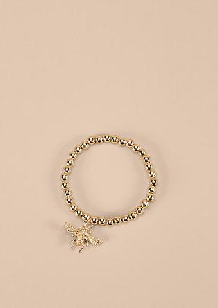 Goldglänzendes Armband mit Biene
