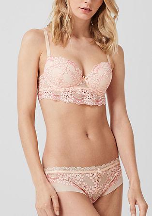 String-Panty mit floraler Spitze