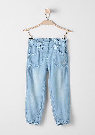 7/8-length summer jeans with embroidery from s.Oliver