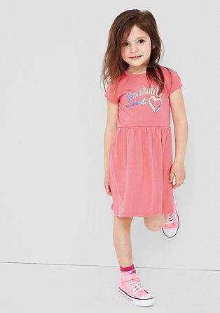 Kleid mit Glitzerprint